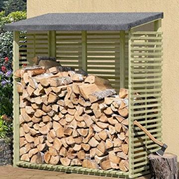 Kaminholzregal mit Rückwand für 1,8 m³ Holz
