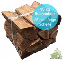 brennholz buche trocken 25cm 30kg